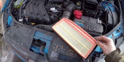 Замена воздушного фильтра Рено Логан: как поменять? Рассказываем! || Логан воздушный фильтр двигателя