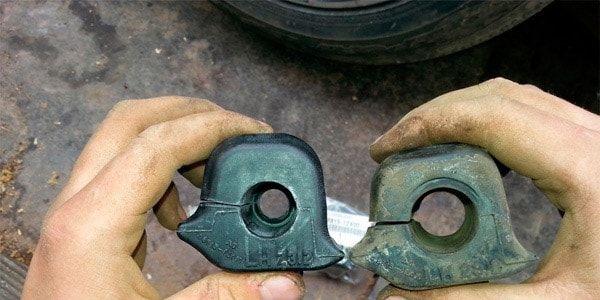 Замена втулок и стоек стабилизаторов в Toyota Corolla