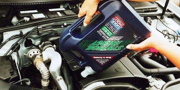 Замена масла в двигателе Toyota Corolla