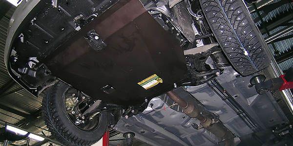 Установка защиты картера Mitsubishi ASX