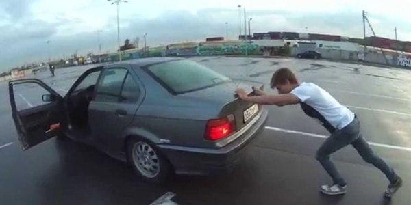 Заводим автомобиль с толкача